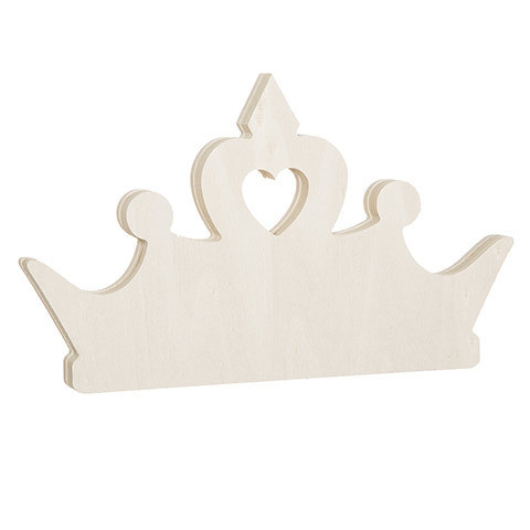 Tiara Standing Wood Shape: 7.5 x 4.5 inches