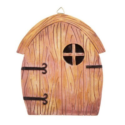 Fairy Garden Door with Hanging Hook - Resin - 5.5 x 6.25 inches