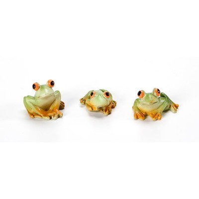 Garden Minis - Frogs - Resin - 1 inch - 3 pieces
