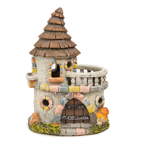 Fairy Garden Castle House with Stone Look - 6.25 x 8.5 inches