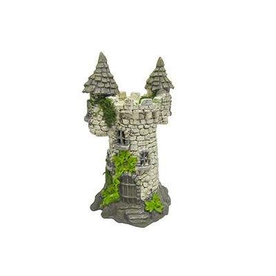 Mini Fairy Garden Faux Cobblestone Castle: 8 inches
