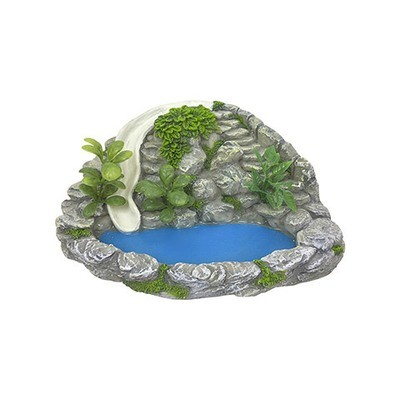 Mini Fairy Garden Faux Waterslide Rock Wall: 7.5 inches