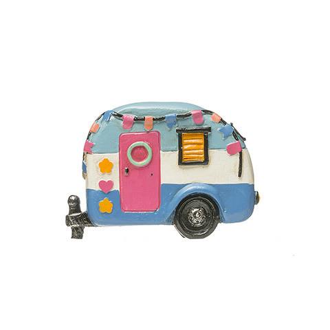 Colorful Mini Fairy Garden Camper: 3.125 inches