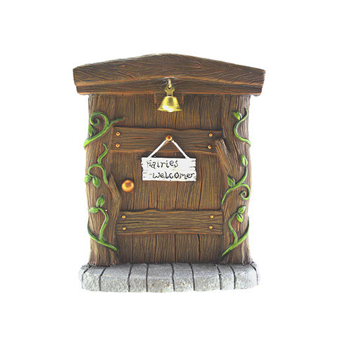Mini Fairy Garden Door: Fairies Welcome, 8.25 inches