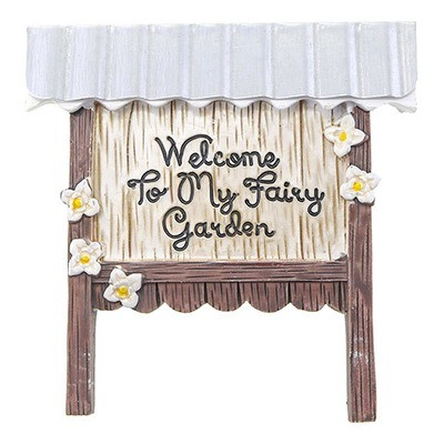 Fairy Garden Welcome Sign: 3.75 inches