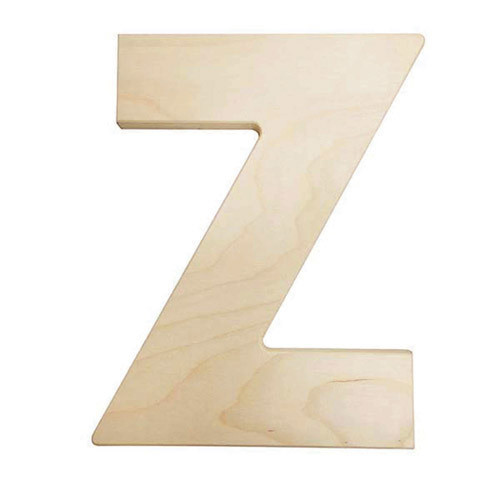 12 inch Bold Unfinished Wood Letter Z