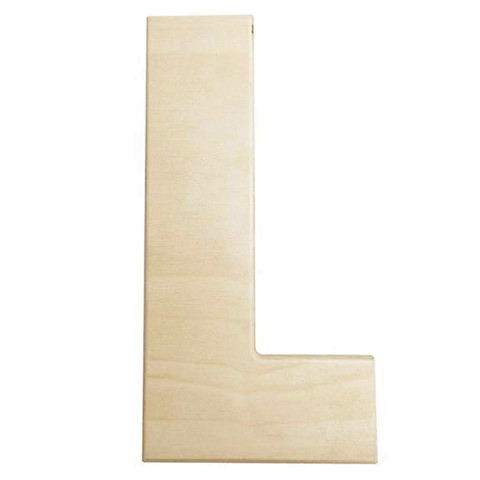 12 inch Bold Unfinished Wood Letter L