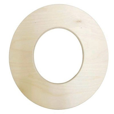 12 inch Bold Unfinished Wood Letter O