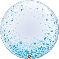 24 inch DECO BUBBLE BLUE Confetti Dots