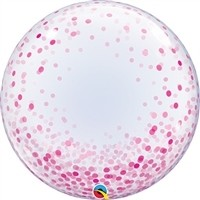24 inch DECO BUBBLE PINK Confetti Dots