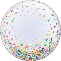 24 inch DECO BUBBLE MULTI COLOR Confetti Dots