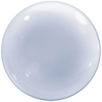 24 inch DECO BUBBLE CLEAR