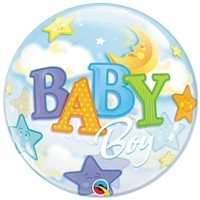 22 inch BUBBLES Baby BOY Moon & Stars