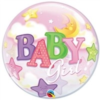 22 inch BUBBLES Baby GIRL Moon & Stars