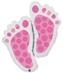 35in Baby Feet Pink(PKG), Price Per EACH