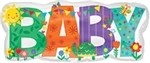 33 inch Baby Banner Cute Icons SuperShape (PKG), Price Per EACH