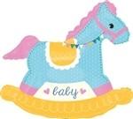 29 inch Baby Shower Rocking Horse (PKG), Price Per EACH