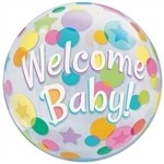 22 inch BUBBLES Welcome BABY Colorful Dots (PKG), Price Per EACH