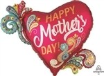 32 inch Happy Mother's Paisley Swirls (PKG), Price Per EACH