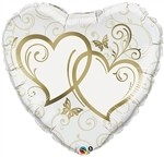 36 inch Entwined Hearts Gold Heart Shape (PKG), Price Per EACH