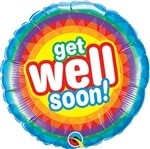 18 inch Get Well Soon Radiant (PKG), Price Per EACH