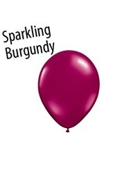 5 inch Qualatex SPARKLING BURGUNDY, Price Per Bag of 25