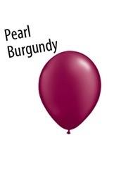 11 inch Qualatex PEARL BURGUNDY, Price Per Bag of 25
