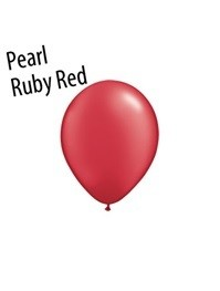 11 inch Qualatex PEARL RUBY RED, Price Per Bag of 25