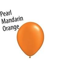 11 inch Qualatex PEARL MANDARIN ORANGE, Price Per Bag of  25
