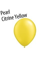 9 inch Qualatex PEARL CITRINE YELLOW, Price Per Bag of 25