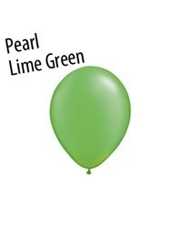 5 inch Qualatex PEARL LIME GREEN, Price Per Bag of 25