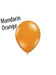 5 inch Qualatex MANDARIN ORANGE, Price Per Bag of    25