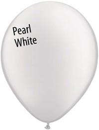 16 inch Qualatex Pearl WHITE, Price Per Bag of 25