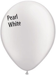 11 inch Qualatex Pearl WHITE, Price Per Bag of 25