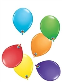 5 inch Qualatex BRIGHT RAINBOW Assortment, Price Per Bag 25