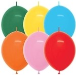 12 inch Betallatex Fashion Assortment LINK-O-LOON, Price Per Bag of 50