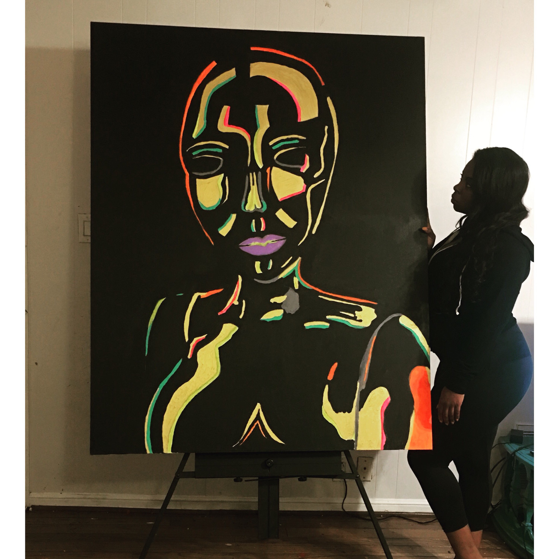 """Bronze Naomi"" Canvas Print"