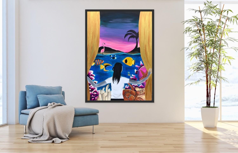 """""""Tropics"""" Canvas Print"""