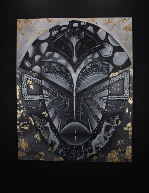 """Giraffe Mask"" Original By Audrianna Woods"