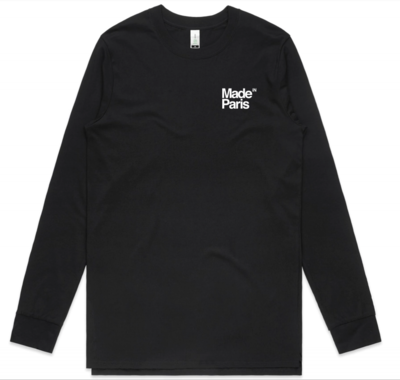 LOGO LONG SLEEVE TEE - WHITE ON BLACK