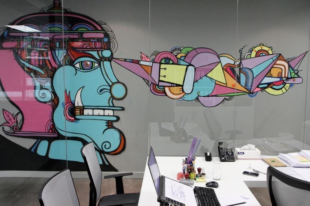MTV EXIT BANGKOK OFFICE MURAL PAINTING 4