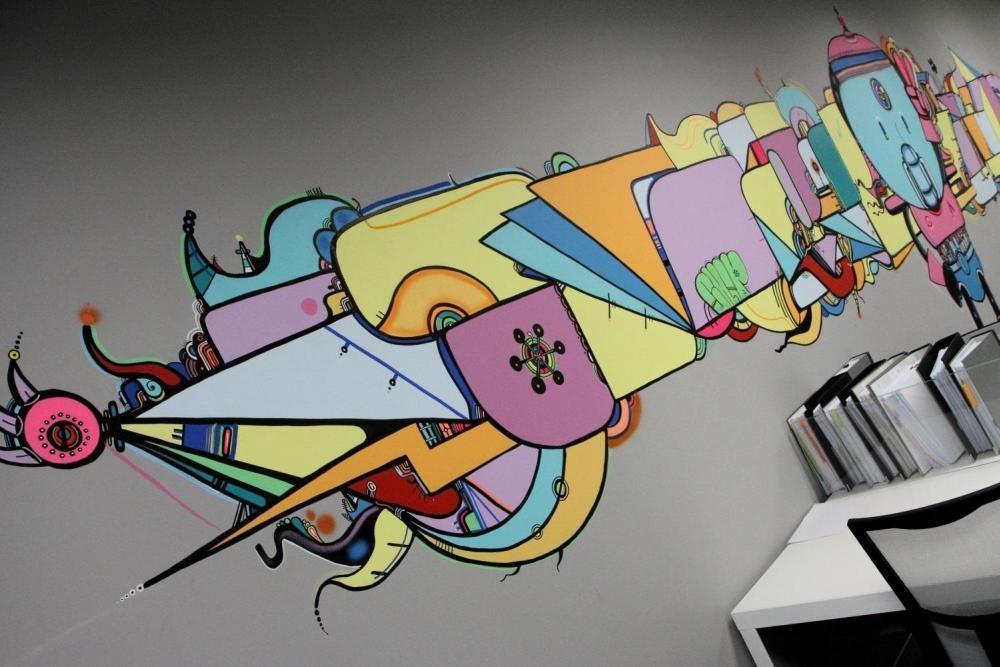 MTV EXIT BANGKOK OFFICE MURAL PAINTING 9
