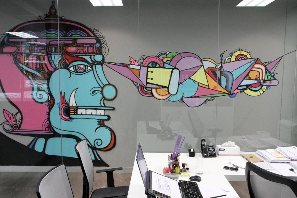 MTV EXIT BANGKOK OFFICE MURAL PAINTING 10