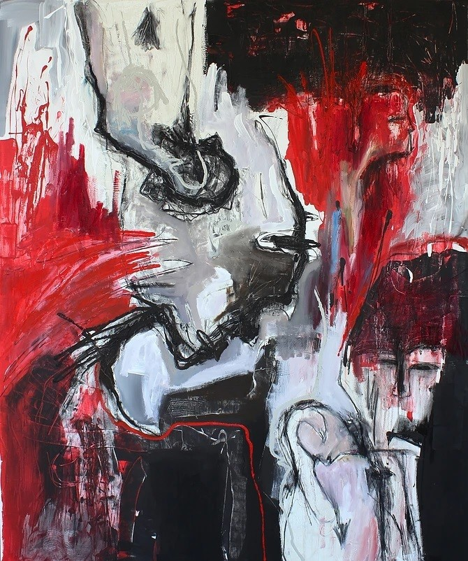 Acrylic painting on canvas 17 (Title unspecified)