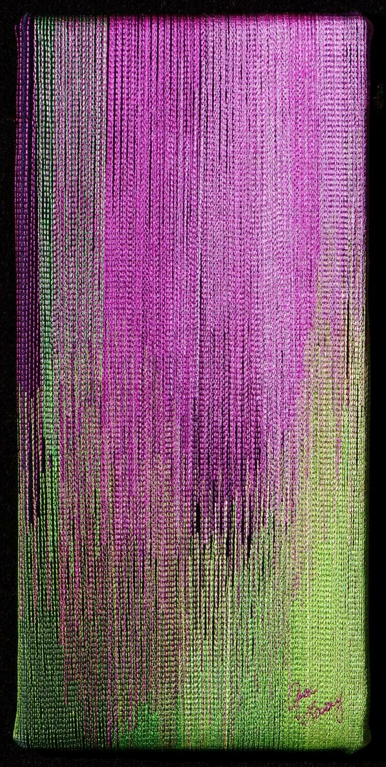 Machine stitching on canvas 12 (Title unspecified)