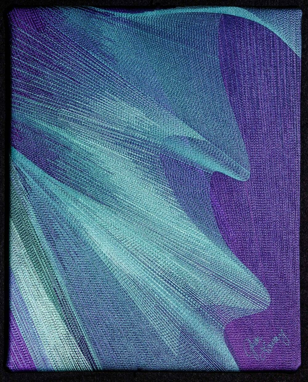 Machine stitching on canvas 14 (Title unspecified)