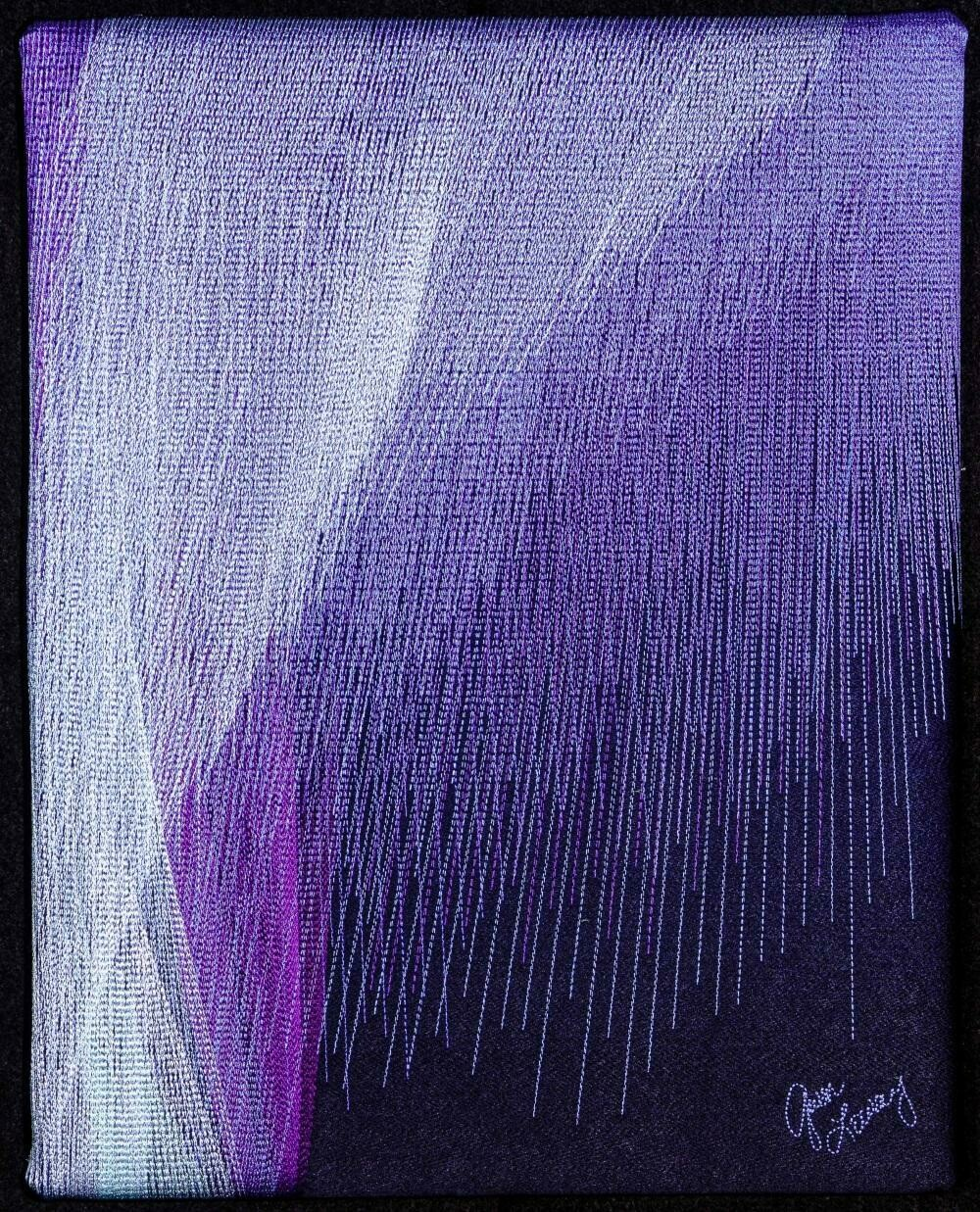 Machine stitching on canvas 19 (Title unspecified)