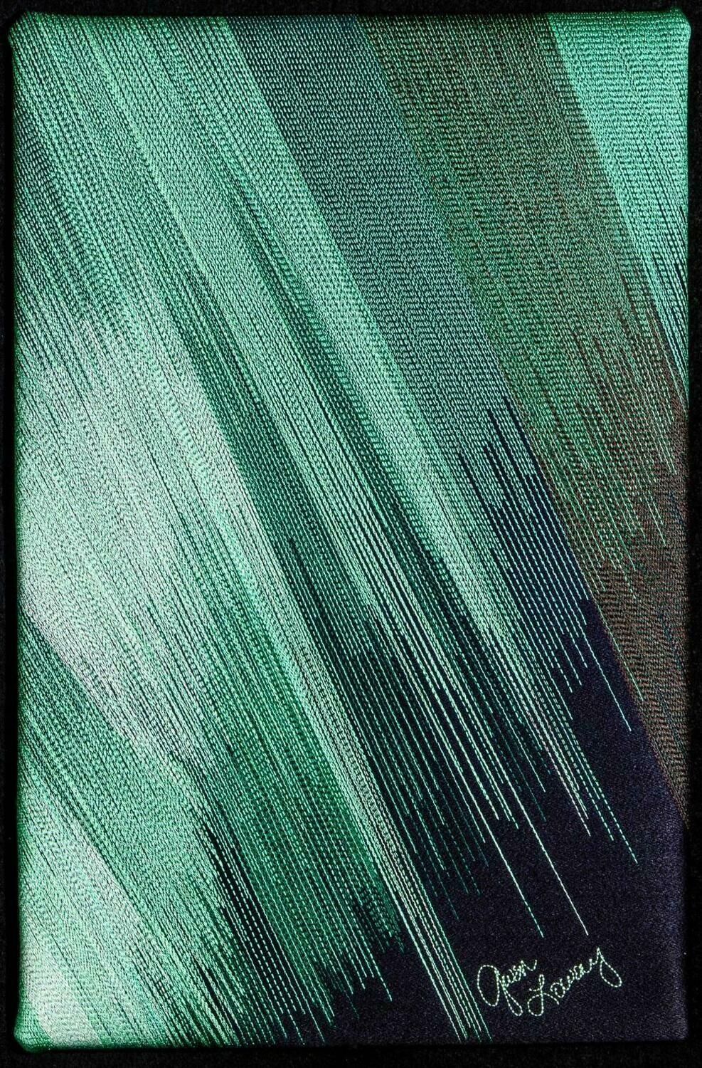 Machine stitching on canvas 20 (Title unspecified)