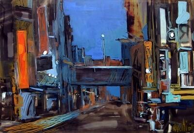 DESERT STREET NIGHT