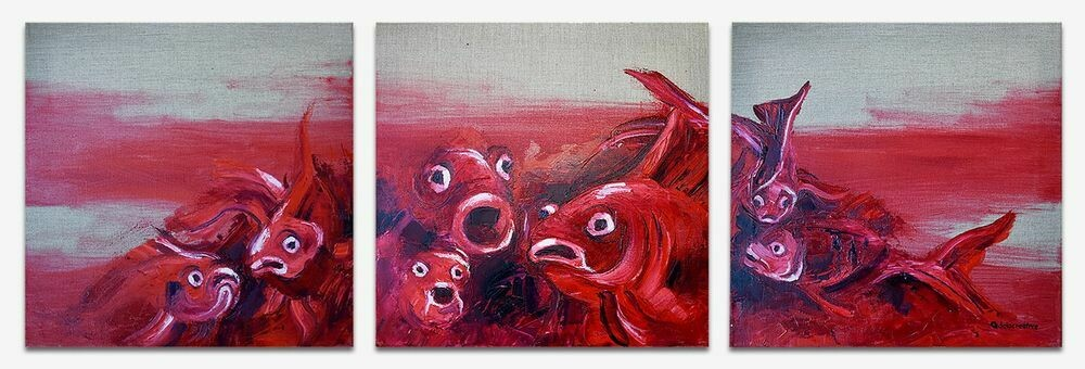 RED FISH (TRIPTYCH)